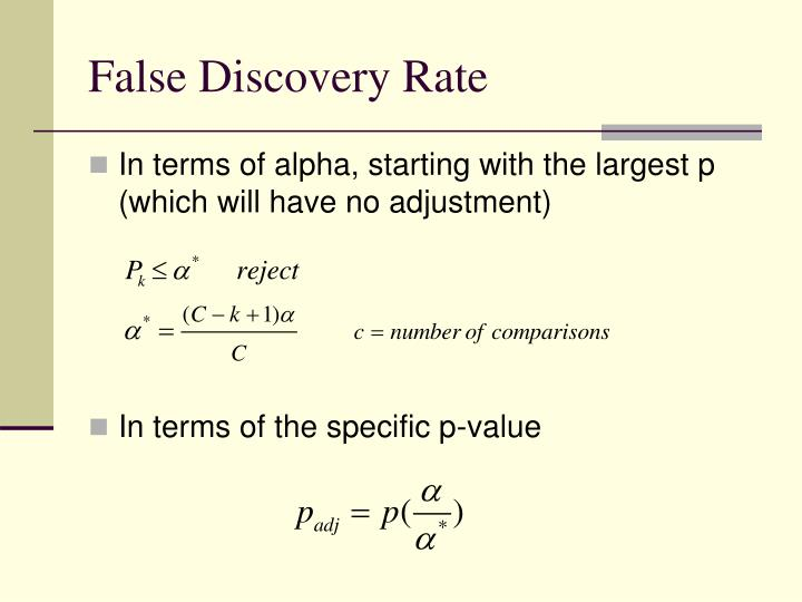 False Discovery Rate