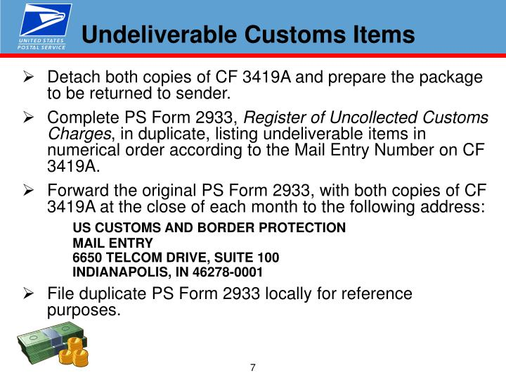 Undeliverable Customs Items