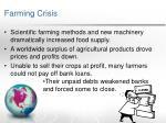 farming crisis