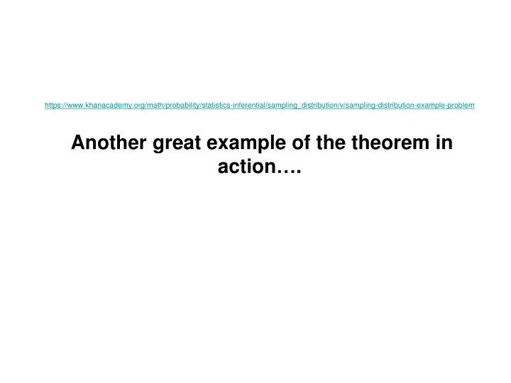 https://www.khanacademy.org/math/probability/statistics-inferential/sampling_distribution/v/sampling-distribution-example-problem