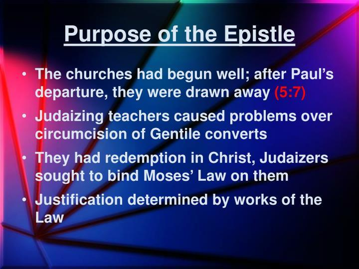 Purpose of the Epistle