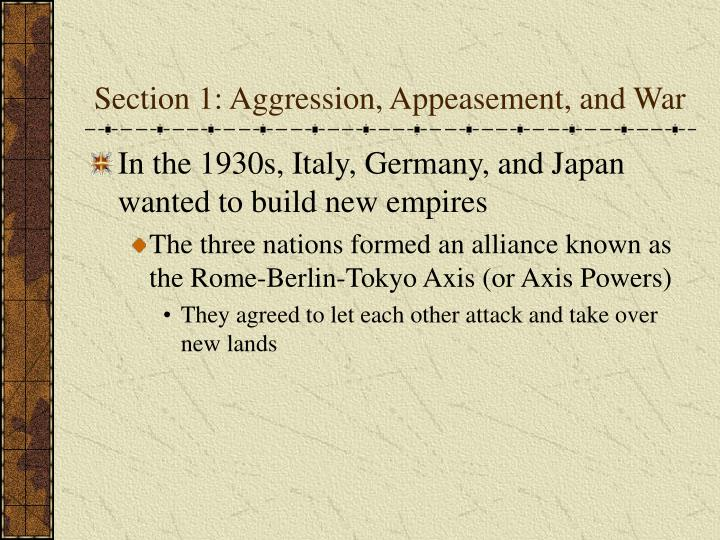 Section 1 aggression appeasement and war