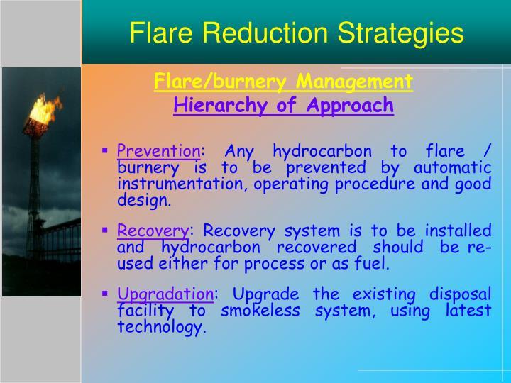 Flare Reduction Strategies