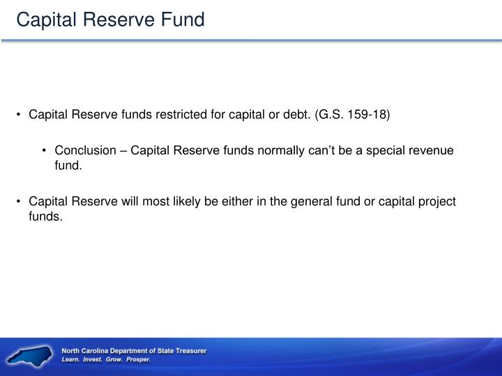 Capital Reserve Fund
