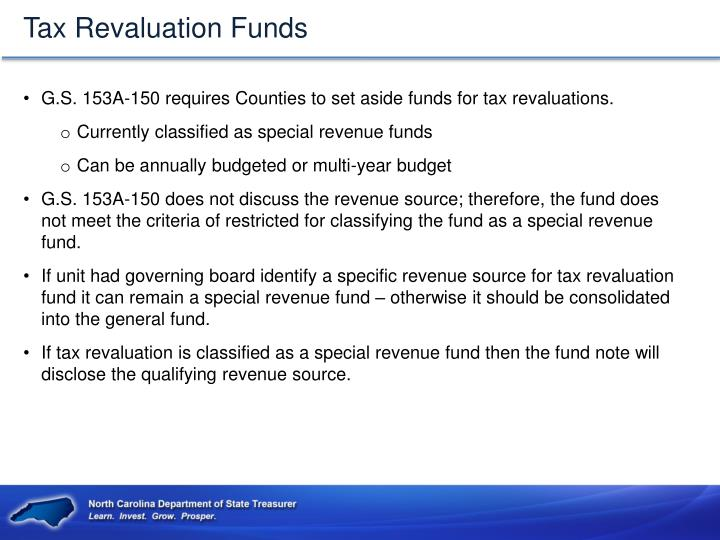 Tax Revaluation Funds