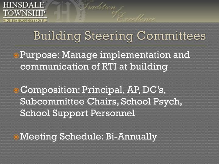 Building Steering Committees