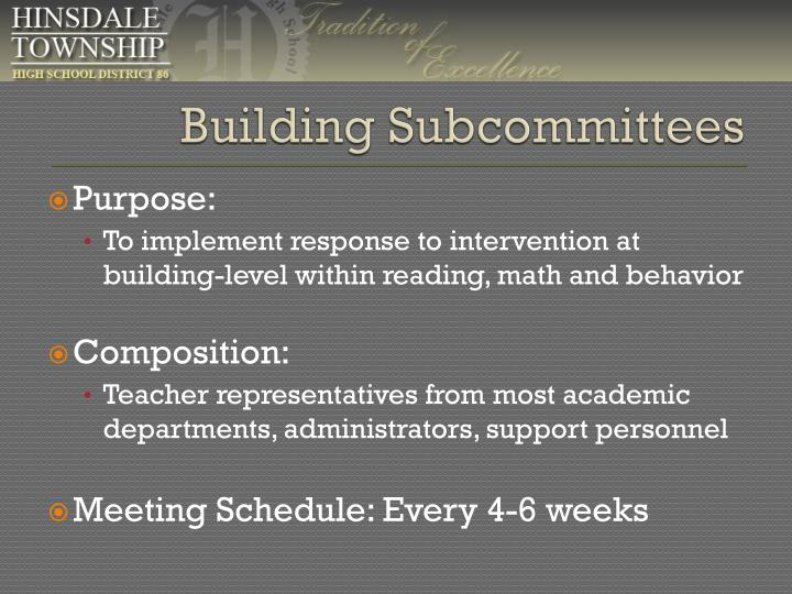 Building Subcommittees