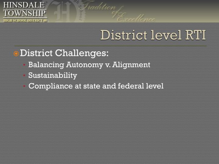 District level RTI