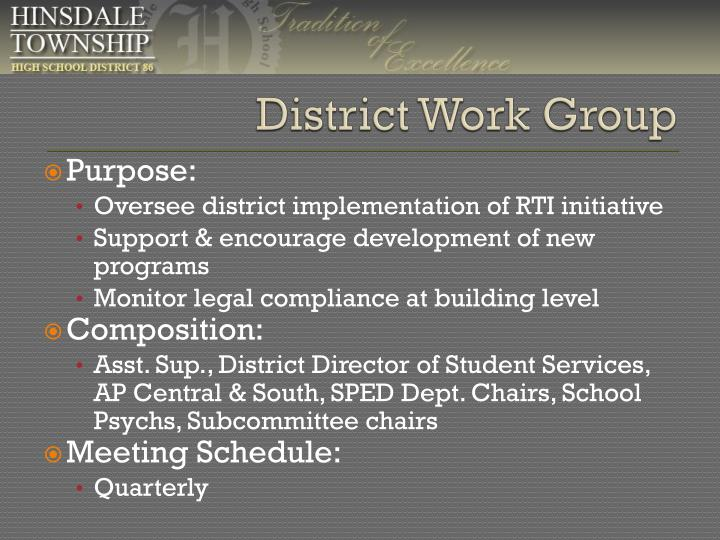 District Work Group