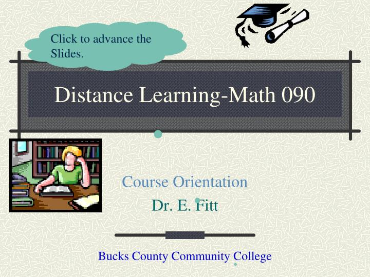 Distance learning math 090