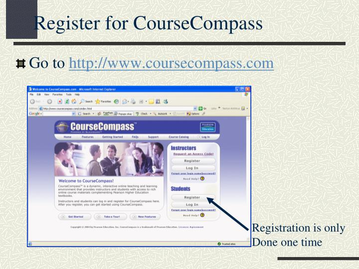 Register for CourseCompass