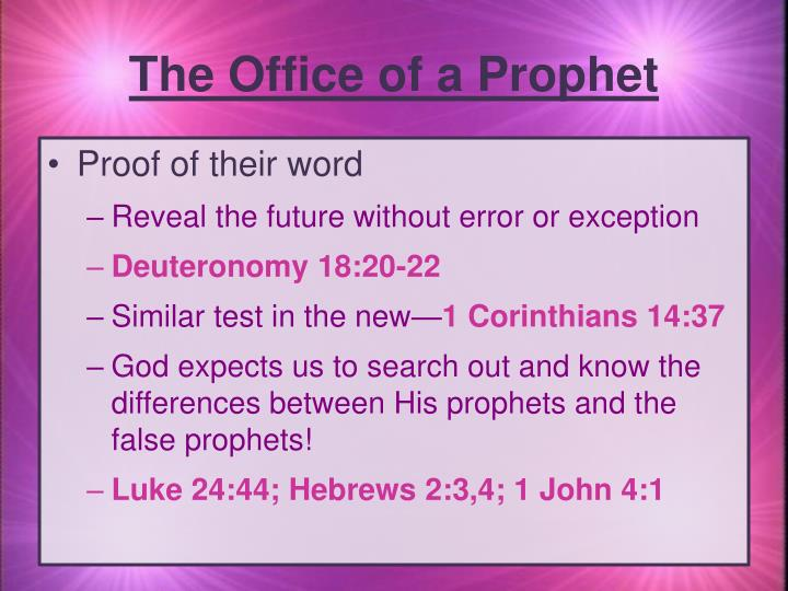 The Office of a Prophet