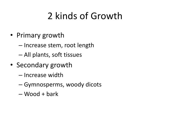 2 kinds of Growth