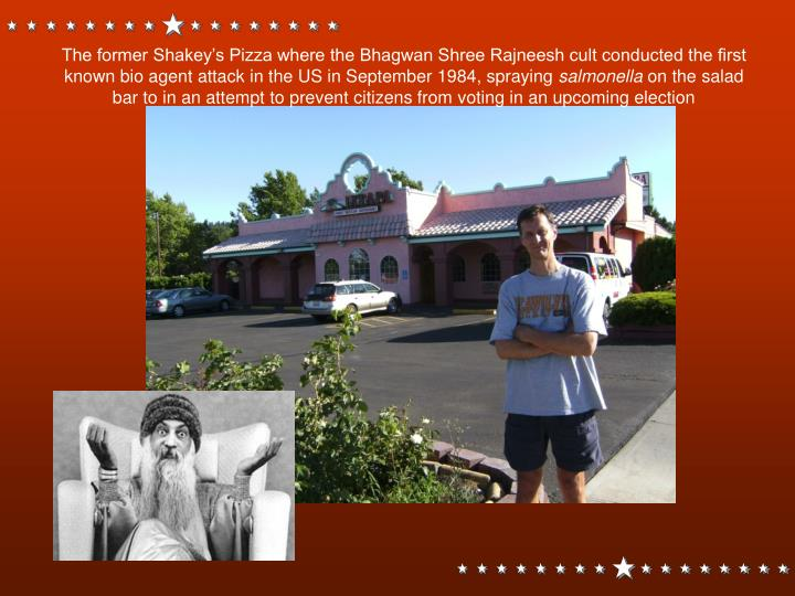 The former Shakey's Pizza where the Bhagwan Shree Rajneesh cult conducted the first known bio agent attack in the US in September 1984, spraying