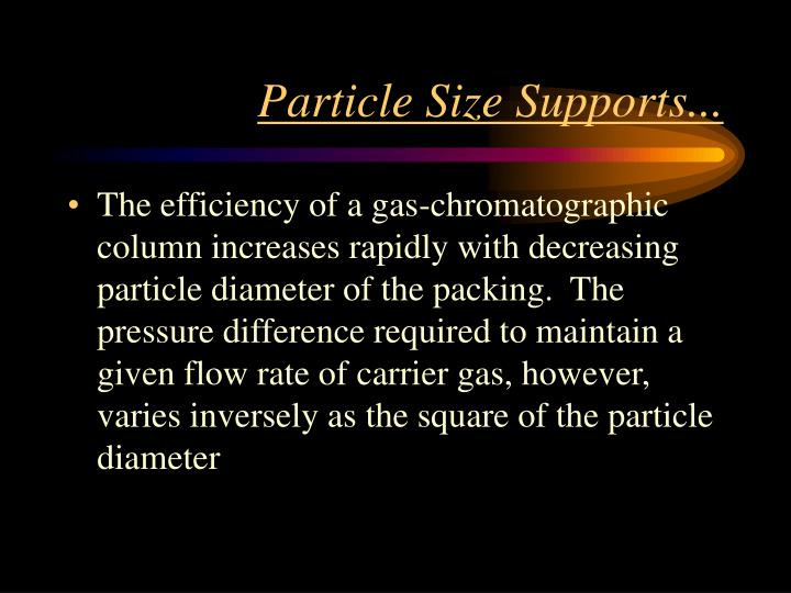 Particle Size Supports...