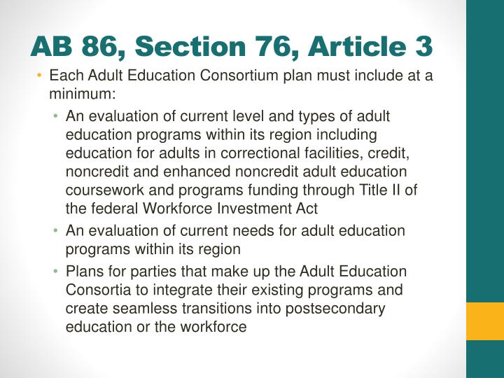 Ab 86 section 76 article 3