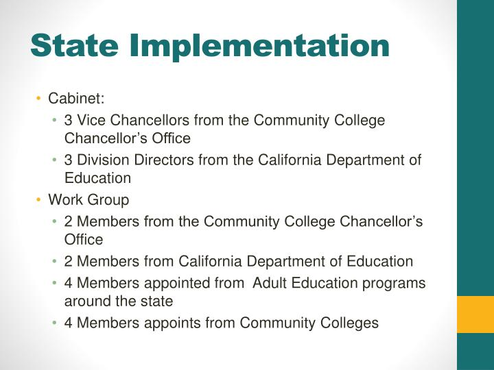 State Implementation