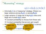 measuring strategy