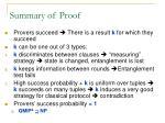 summary of proof