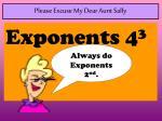please excuse my dear aunt sally2