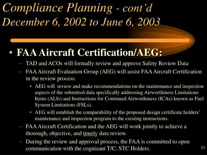 Compliance Planning