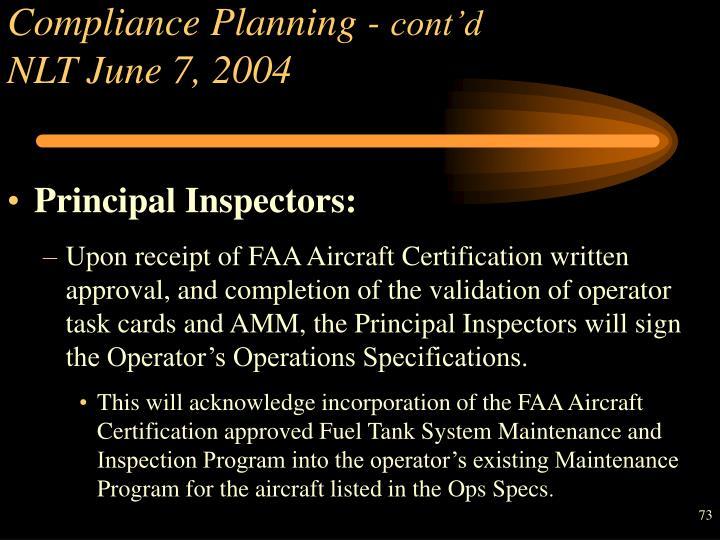 Compliance Planning -