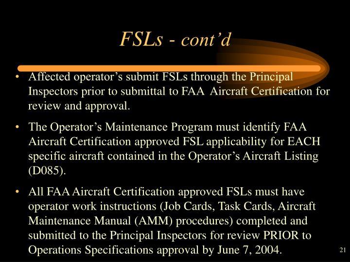 FSLs -