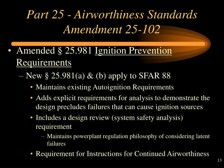 Part 25 - Airworthiness Standards