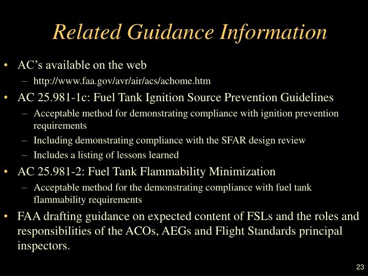Related Guidance Information