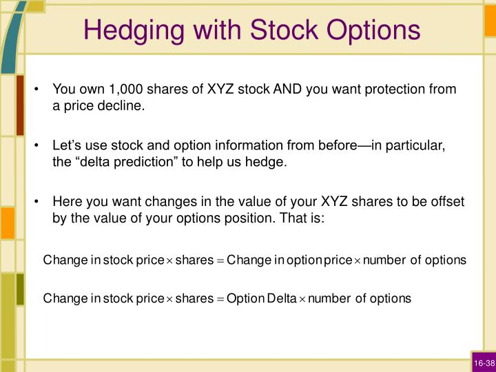 Hedging with Stock Options