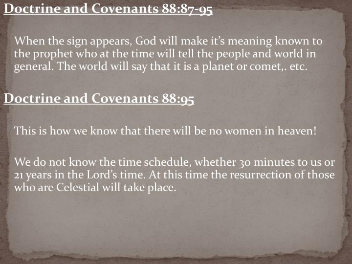 Doctrine and Covenants 88:87-95