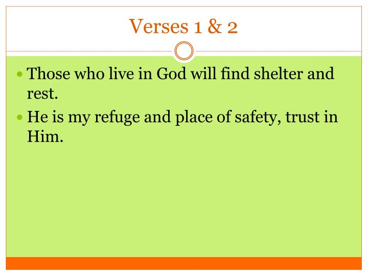 Verses 1 2