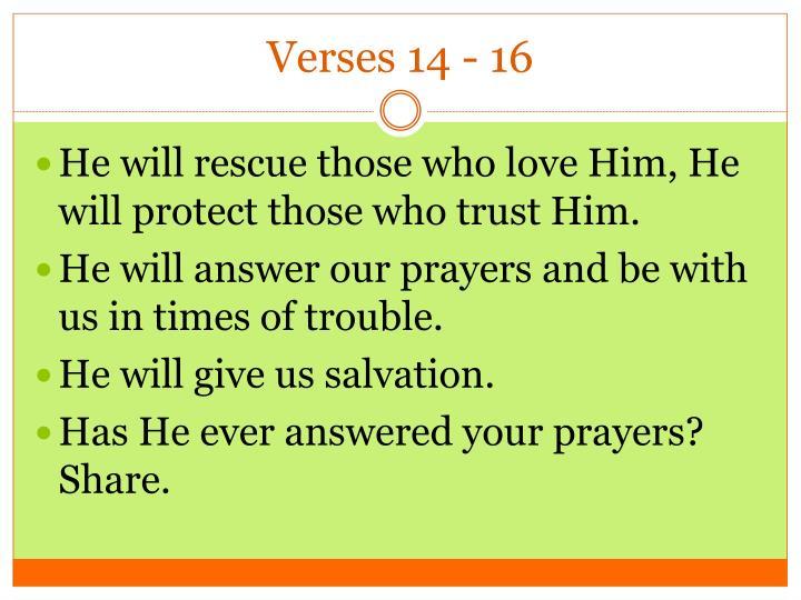 Verses 14 - 16