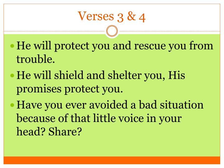 Verses 3 4