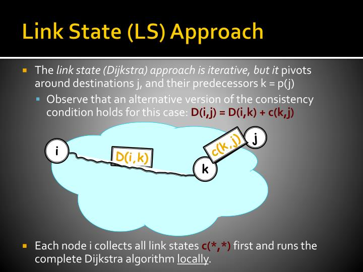 Link State (LS) Approach