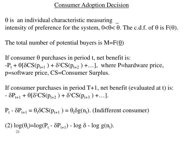 Consumer Adoption Decision