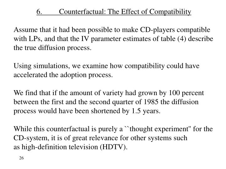6.Counterfactual: The Effect of Compatibility