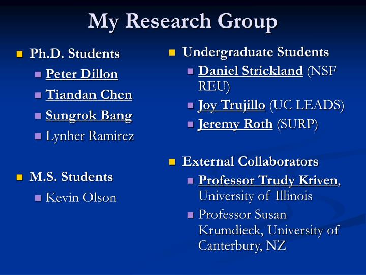 My research group