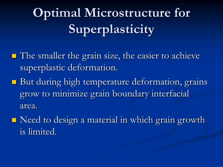 Optimal Microstructure for Superplasticity