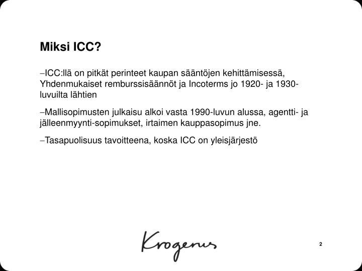 Miksi icc
