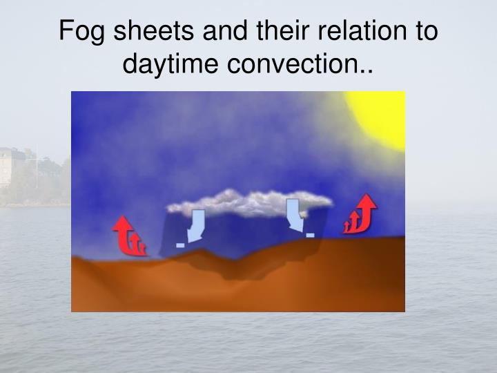 Fog sheets and their relation to daytime convection..