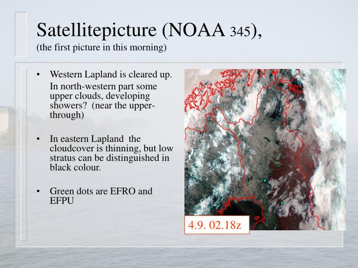 Satellitepicture (NOAA