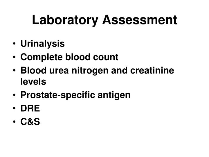 Laboratory Assessment