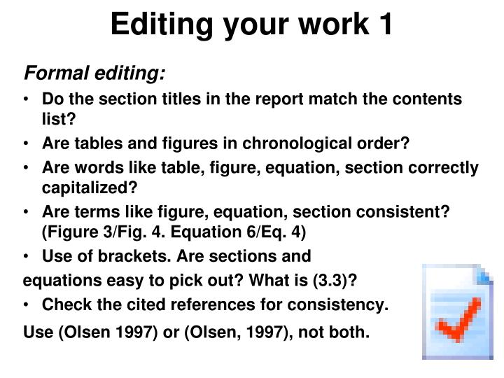 Editing your work 1
