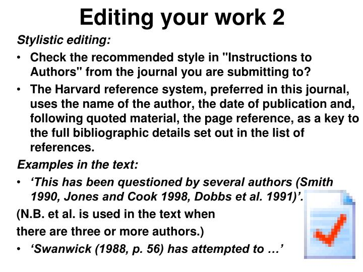 Editing your work 2