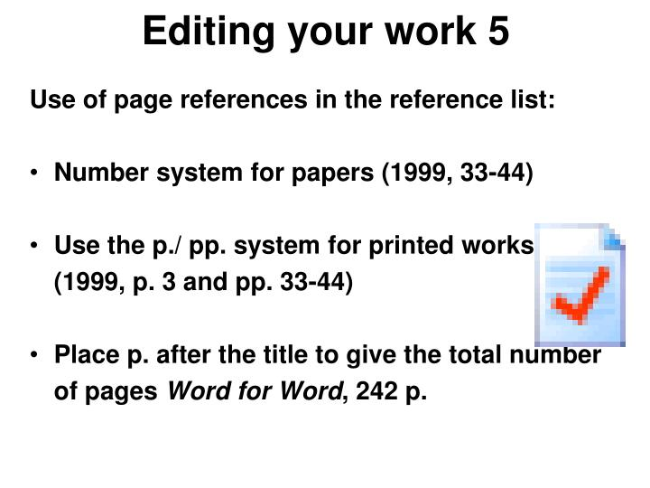 Editing your work 5