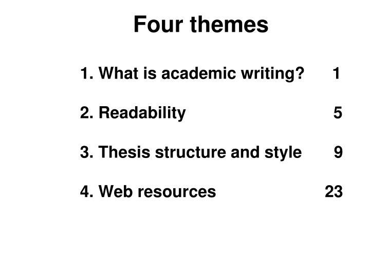 Four themes