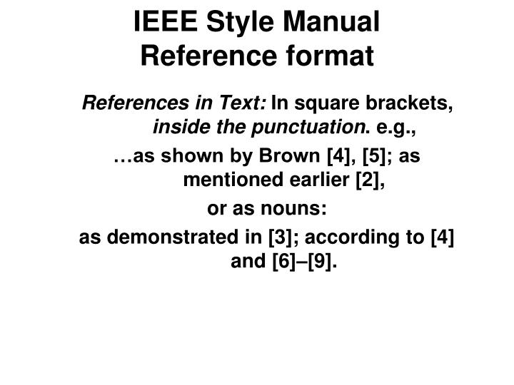IEEE Style Manual