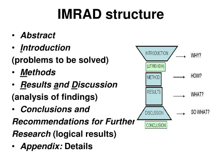 IMRAD structure