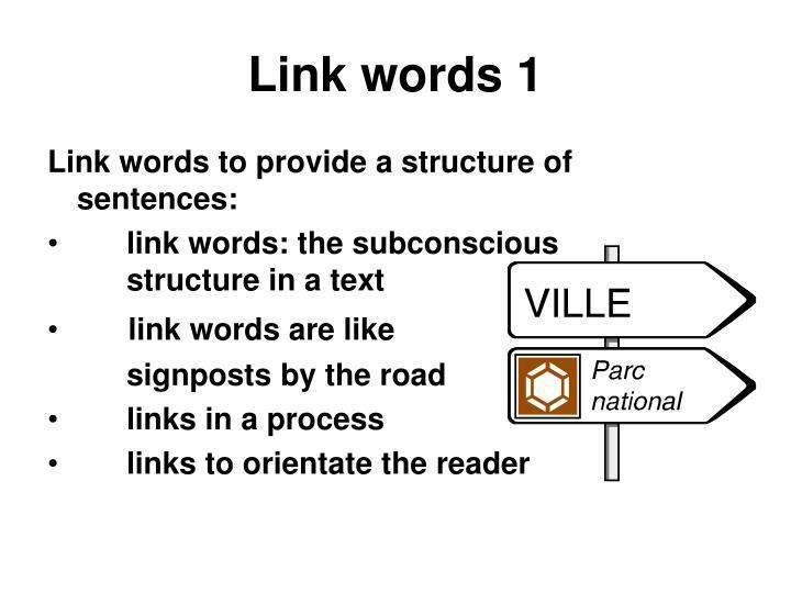 Link words 1
